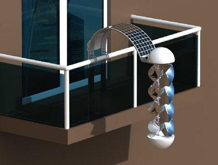 Greenerator energia eolica e solare sul balcone di casa for Turbine eoliche domestiche