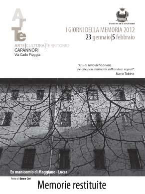 """""""I giorni della memoria 2012, Memorie restituite: lo sterminio degli inutili"""""""