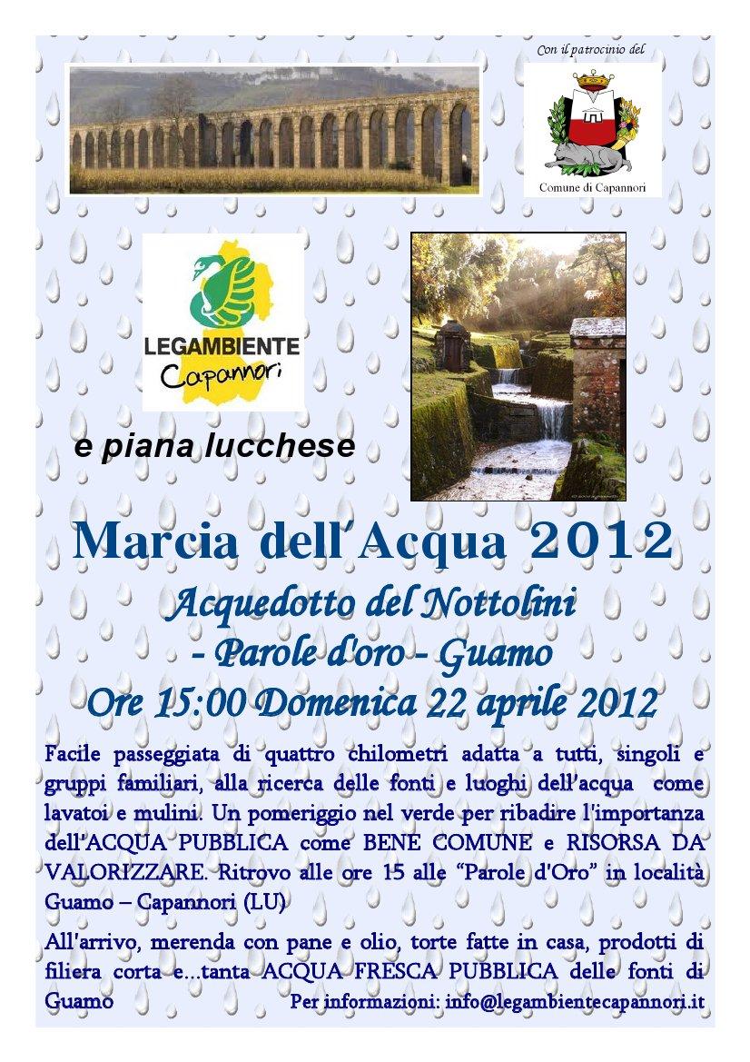 Il 22 Aprile Marcia dell'Acqua a Capannori