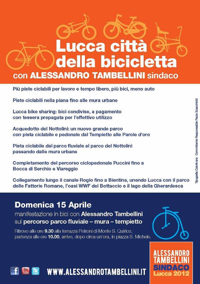 Lucca, una domenica in bici con Alessandro Tambellini