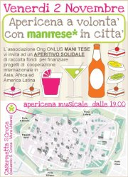 A Lucca Apericena solidale di Mani Tese!!