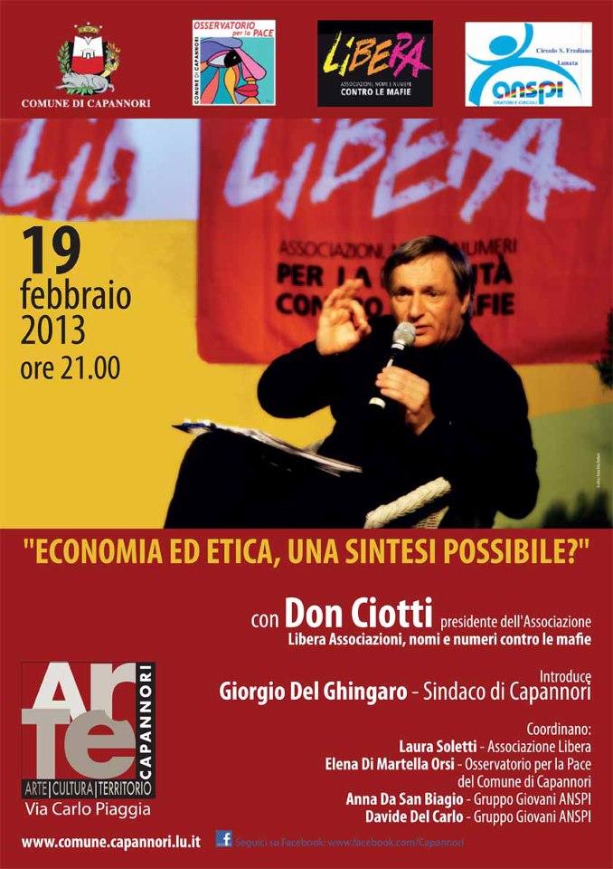 19 Febbraio Don Ciotti a Capannori