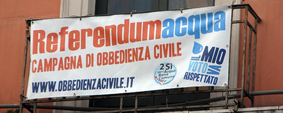 Il Tar Toscana dà ragione ai movimenti. Partita la Campagna di Obbedienza civile sulle bollette dell'acqua