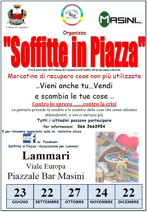 Il 22 Dicembre torna Soffitte in Piazza a Lammari