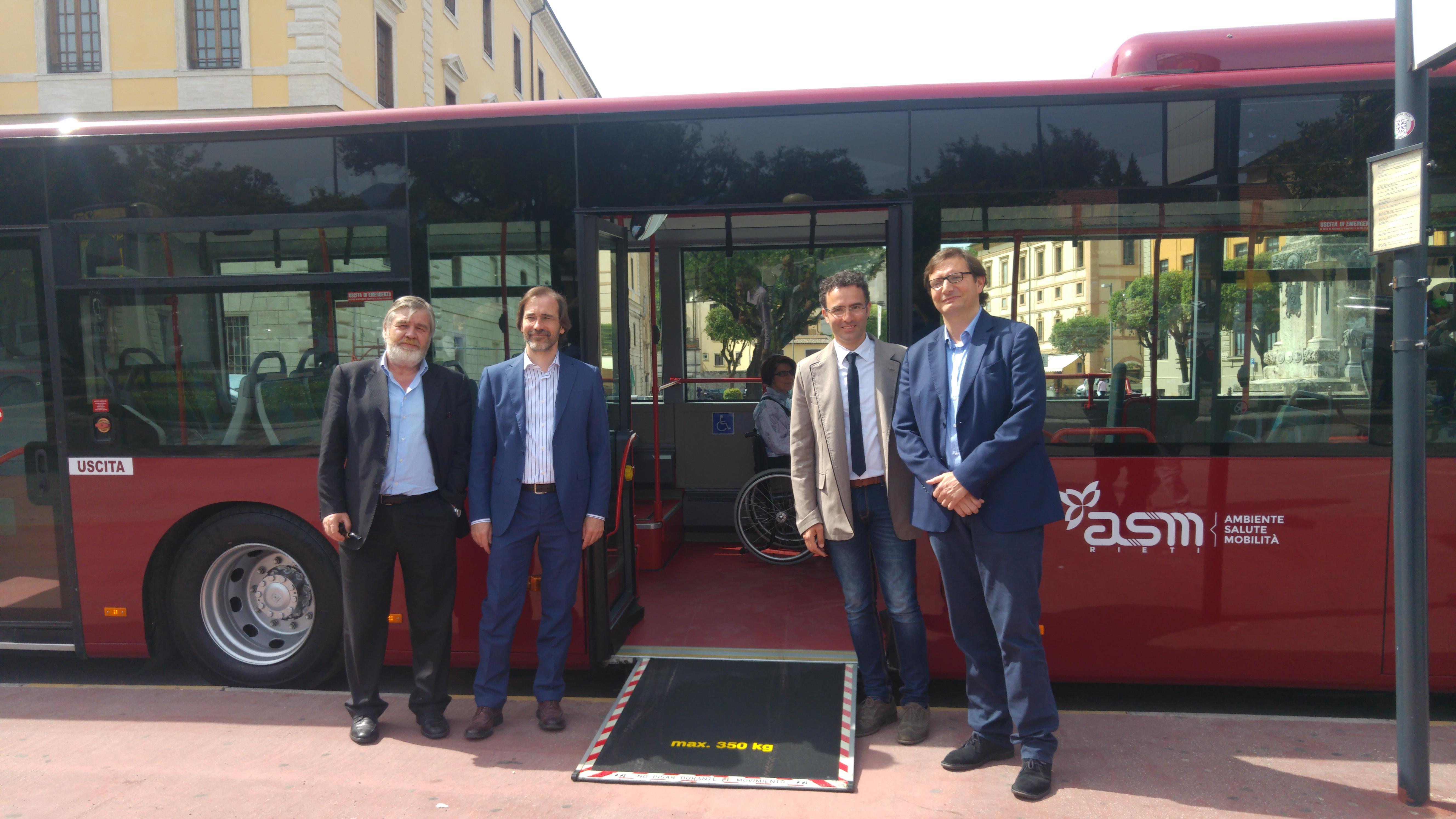 Su strada i nuovi autobus ASM Rieti