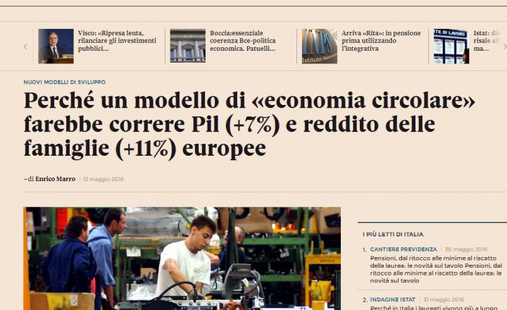 L'«economia circolare» farebbe correre Pil (+7%) e reddito delle famiglie (+11%) europee