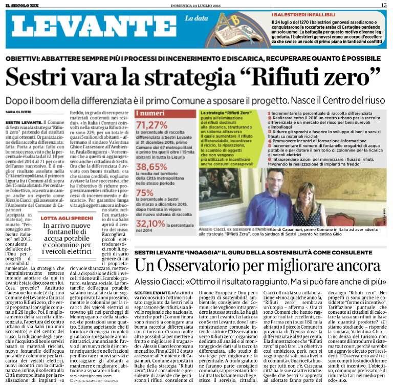 Sestri Levante Verso Rifiuti Zero
