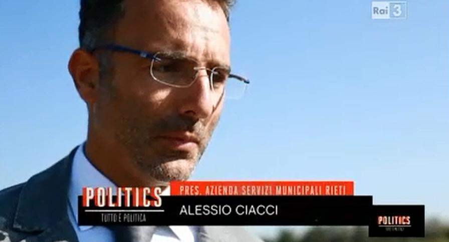 Alessio Ciacci su RaiTre alla trasmissione Politics