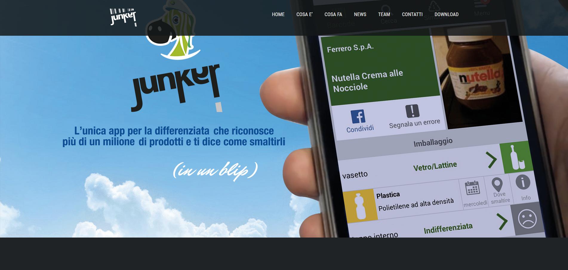 A Camaiore la raccolta differenziata si fa con la app Junker