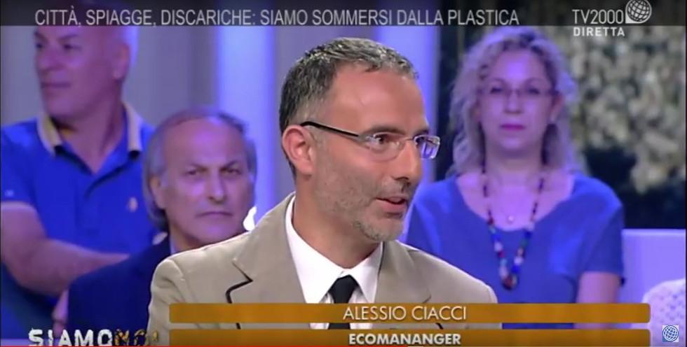 """Alessio Ciacci alla trasmissione """"Siamo noi"""" di TV2000 su raccolte differenziate, riciclo e strategia rifiuti zero"""