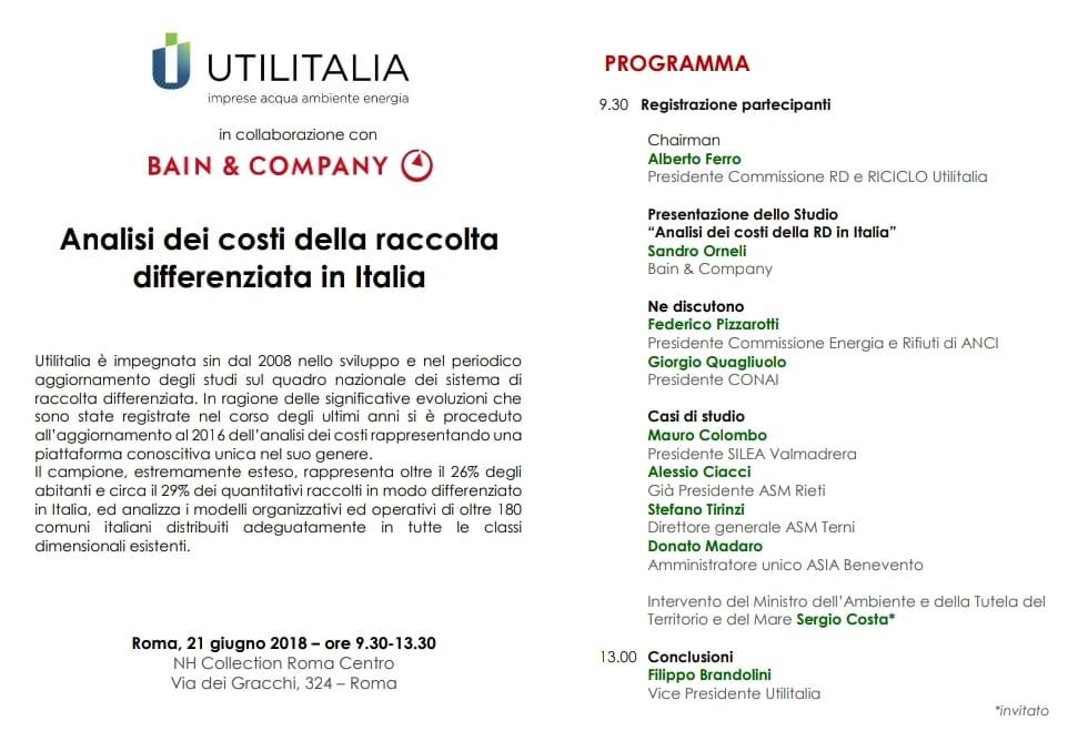 Analisi dei costi della raccolta differenziata in Italia. Ciacci illustra il caso di successo di Rieti