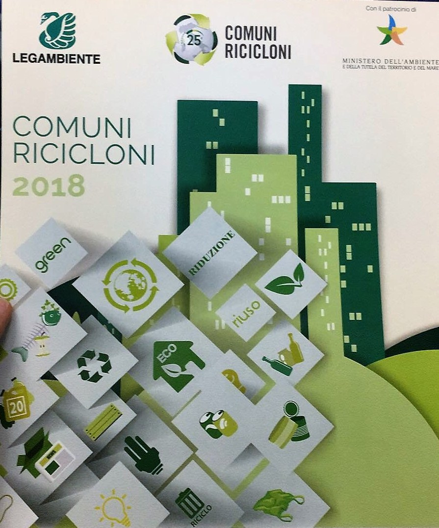 Premio Comuni Ricicloni XXV edizione: sono 505 i Comuni rifiuti free del 2018, 19 in più rispetto al 2017