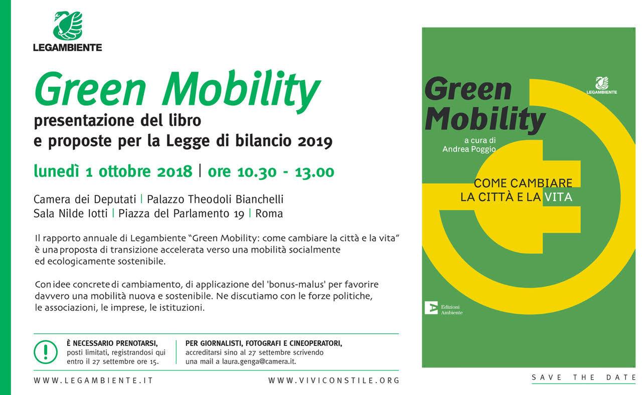 Green Mobility: il 1 ottobre presentazione del libro alla Camera