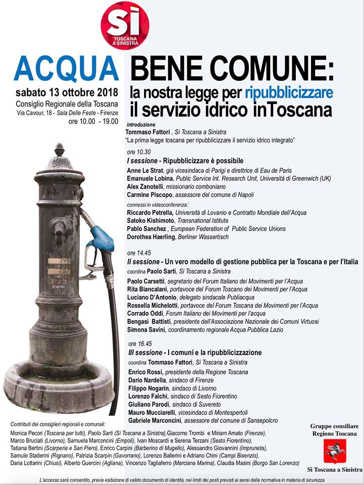 La Toscana verso la ripubblicizzazione dei servizi idrici