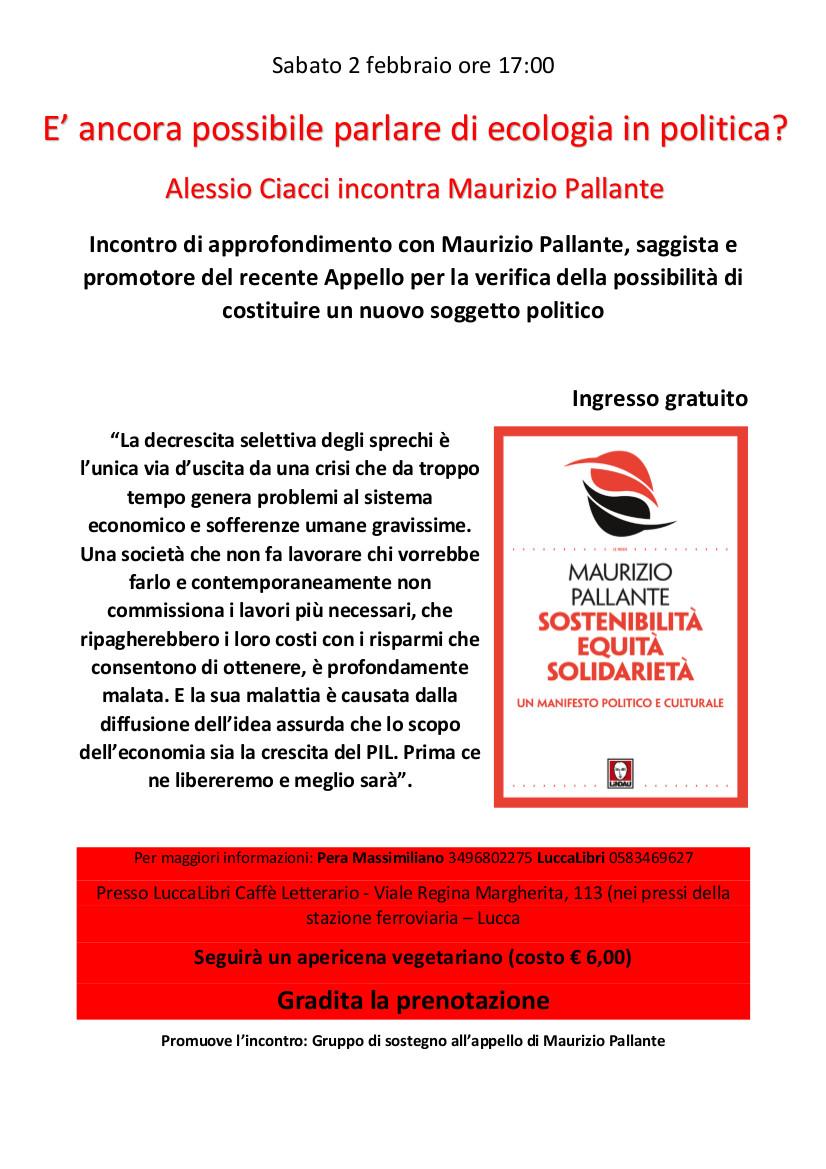 Sostenibilità, Equità, Solidarietà. Maurizio Pallante a Luccalibri