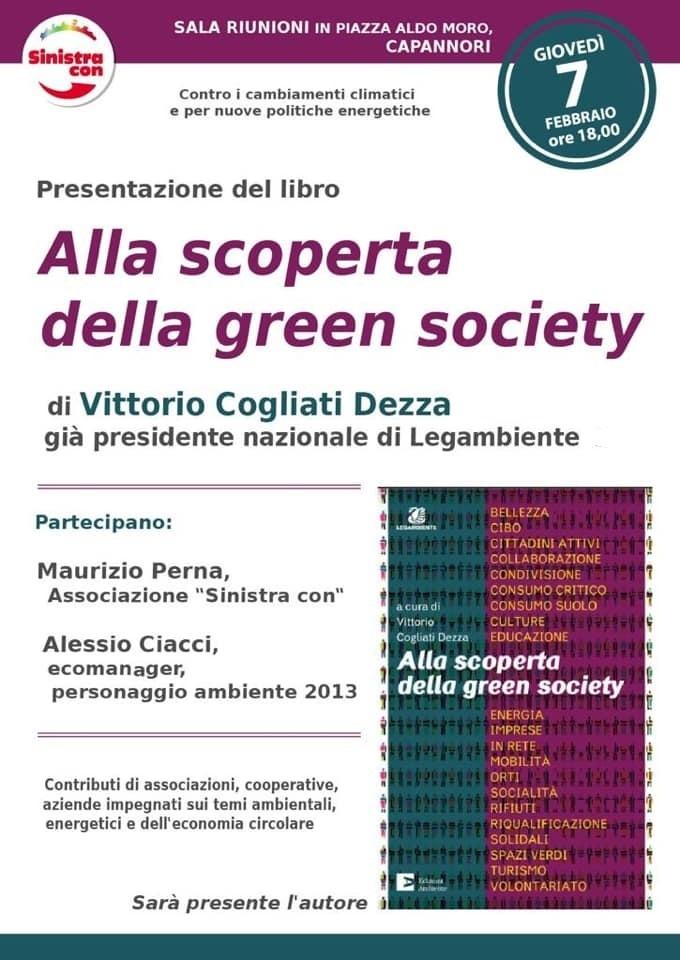 """A Capannori la presentazione di """"Alla scoperta della green society"""""""