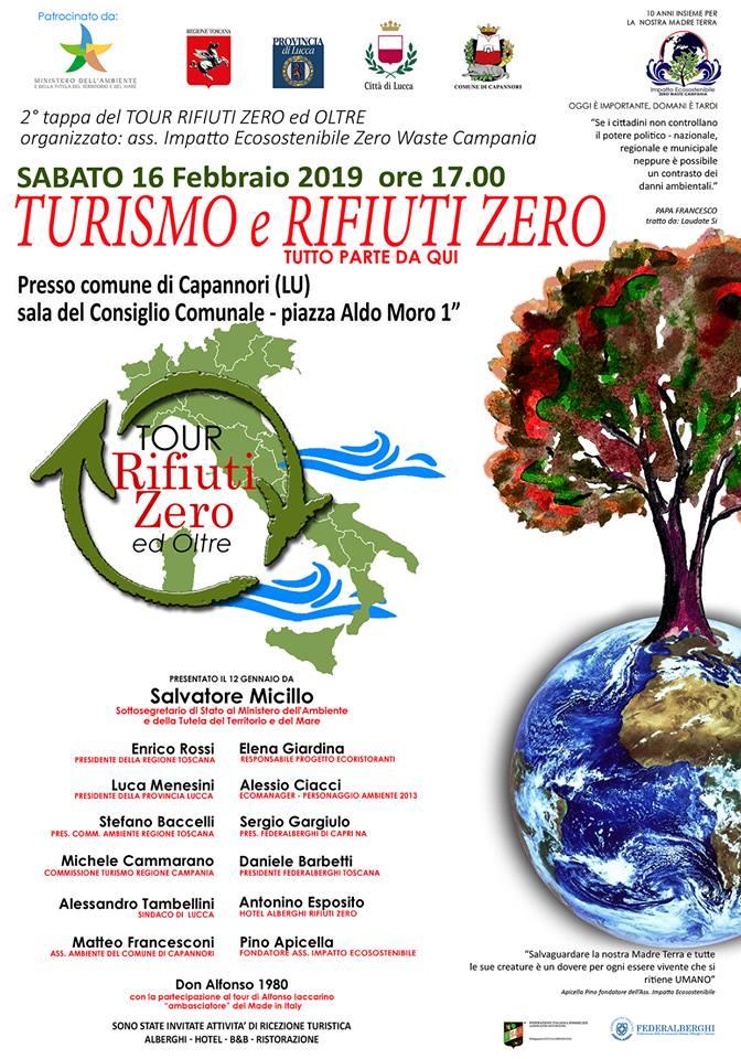 Evento a Capannori: Turismo e Rifiuti Zero