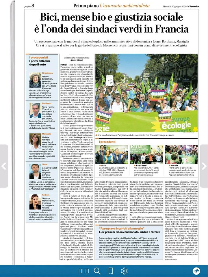 Bici, mense bio e giustizia sociale, l'onda dei sindaci verdi in Francia